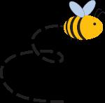 Little Bee flying