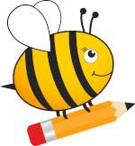 Little Bee with a pencil